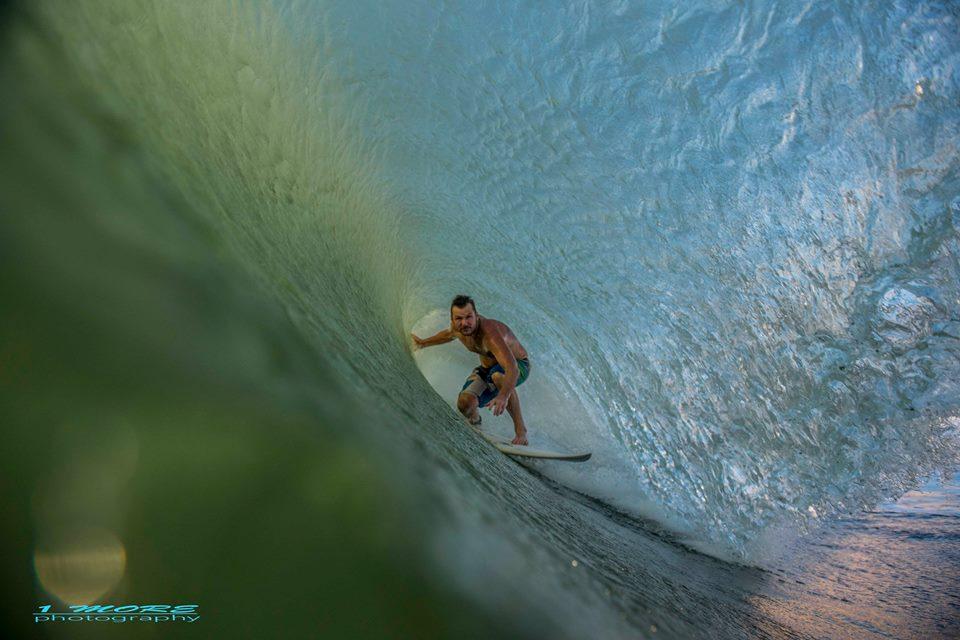 Atom Kasprzycki tucks in at Rainbows Photo: OneMore Photography