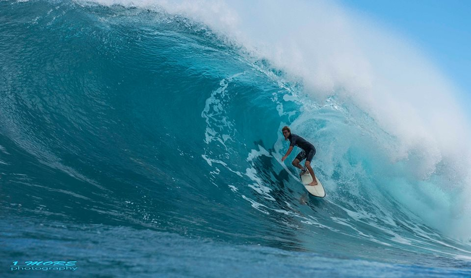 Will Hunt underneath the curtain at Honolua Bay Photo: OneMore Photography