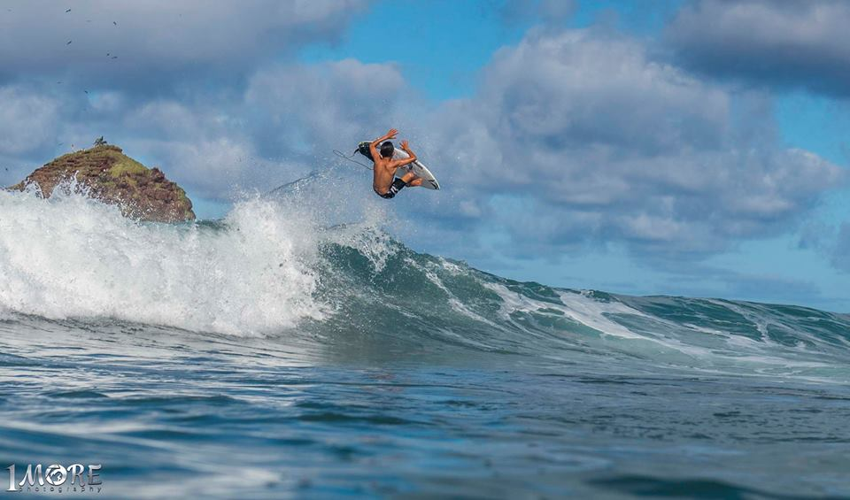Jackson Bunch seeks some air time in Hana Photo: OneMore Photography