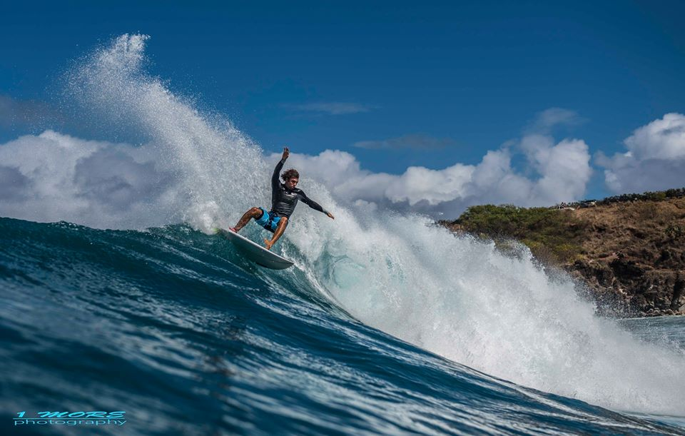 Ian Gentil carving at Honolua Photo: OneMore Photography