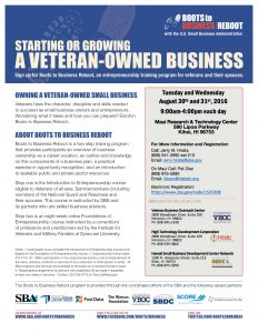 Boots to Business -RebootFlyer-August 30th and 31st 2016 MRTC Final1