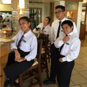 Culinary students at Leis Family Class Act restaurant. Courtesy photo,