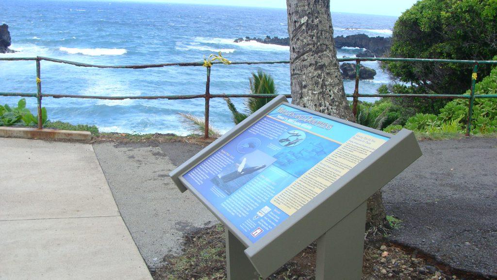 Waiʻānapanapa interpretive sign and walkway. Photo by Wendy Osher.