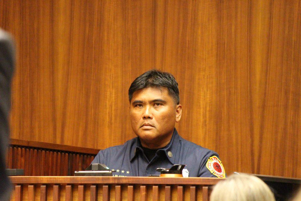 Maui fire investigator James Blando. Photo 8.29.16 by Wendy Osher.