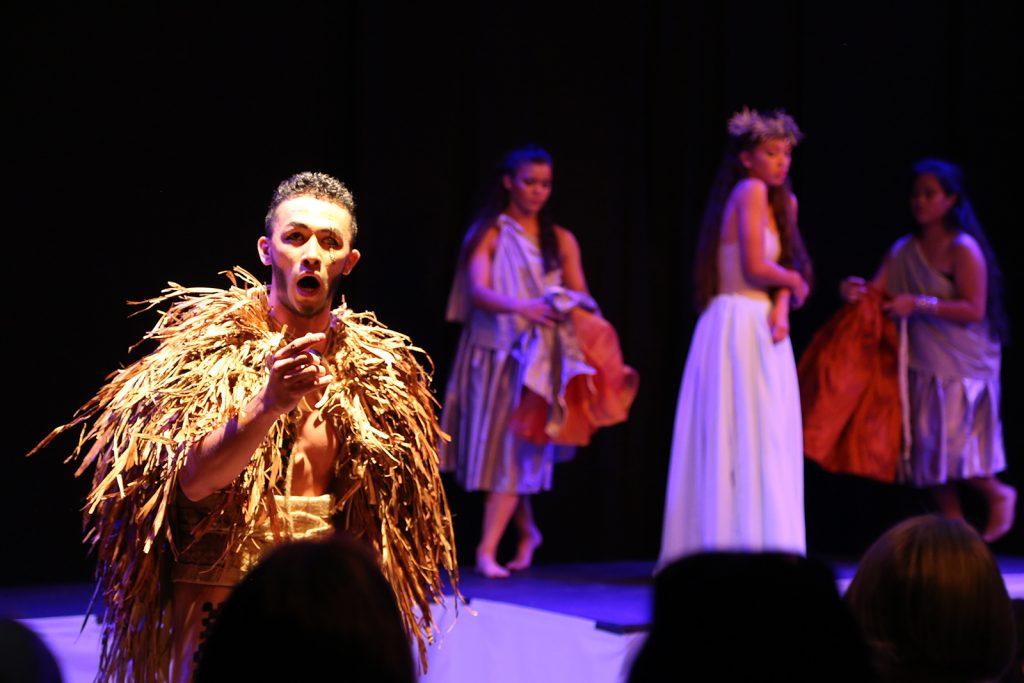 Kamehameha Schools Hawaiʻi campus performing their Hawaiian opera, Hāʻupu, for the first time at the Edinburgh Festival Fringe. Courtesy photo.