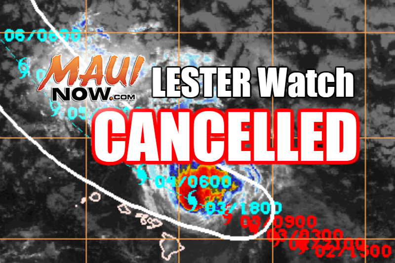 The Hurricane watch that was in effect was cancelled as of 5 a.m. on Saturday, Sept. 3, 2016.