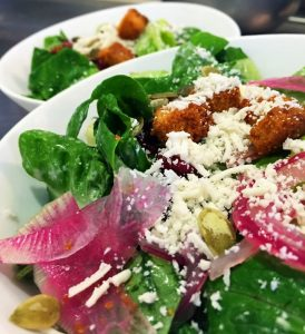 Romaine salad on the Latin Influence menu at Leis Family Class Act Restaurant, UH Maui. Courtesy photo.