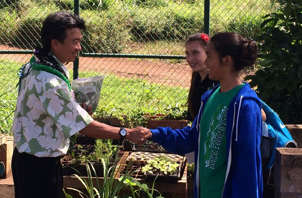 Molokai Middle School Garden Program. Photo credit: Office of the Lt. Governor.