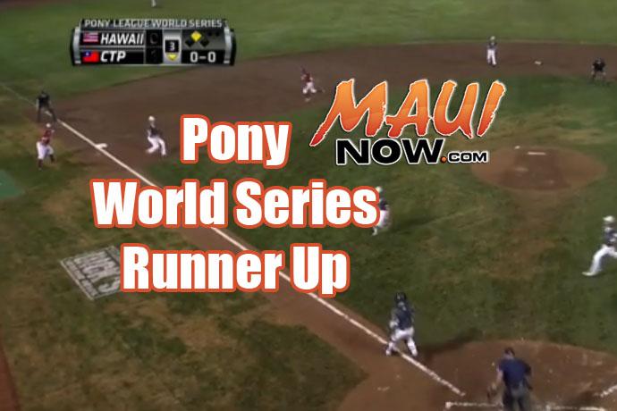 Pony World Series Runner Up.