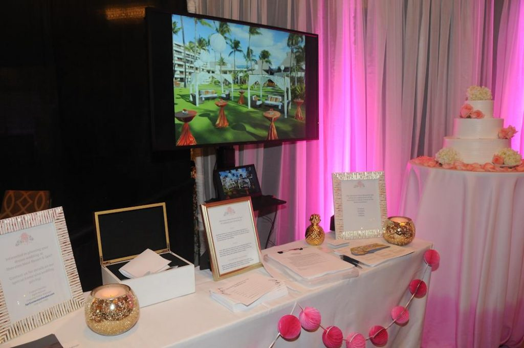 Sheraton Maui booth at the Maui Wedding Expo today. Photo by Tim Clark