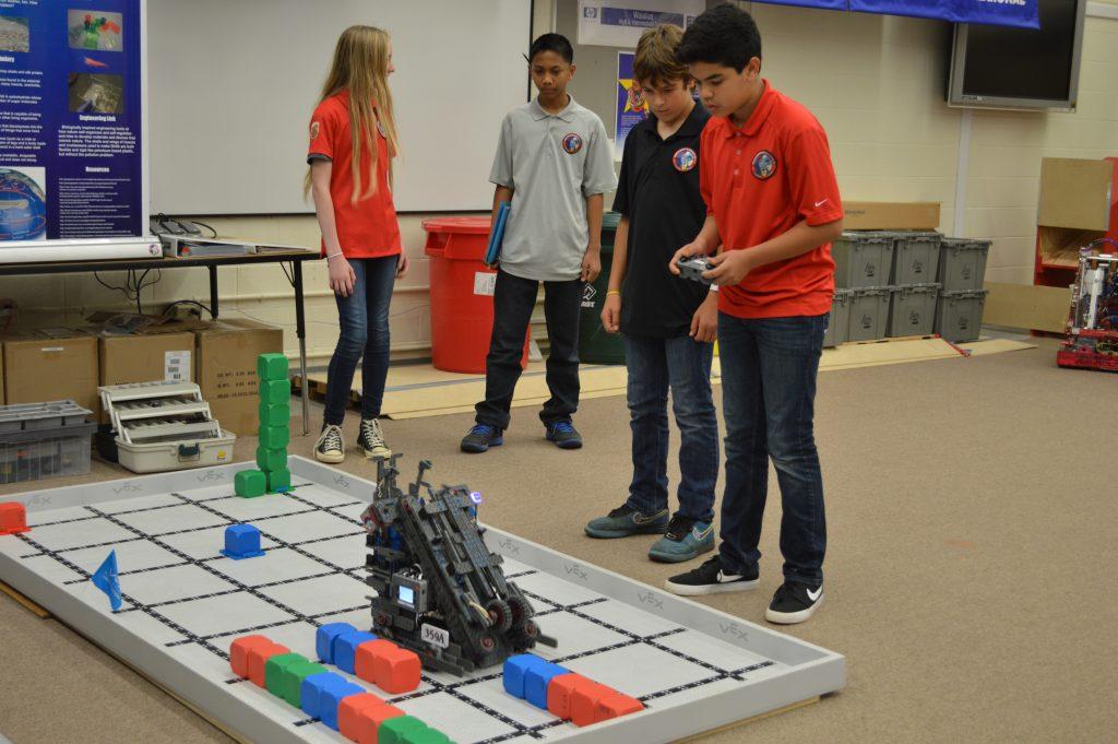 Waialua Middle School Robotics Program. Photo credit: Office of the Lt. Governor.
