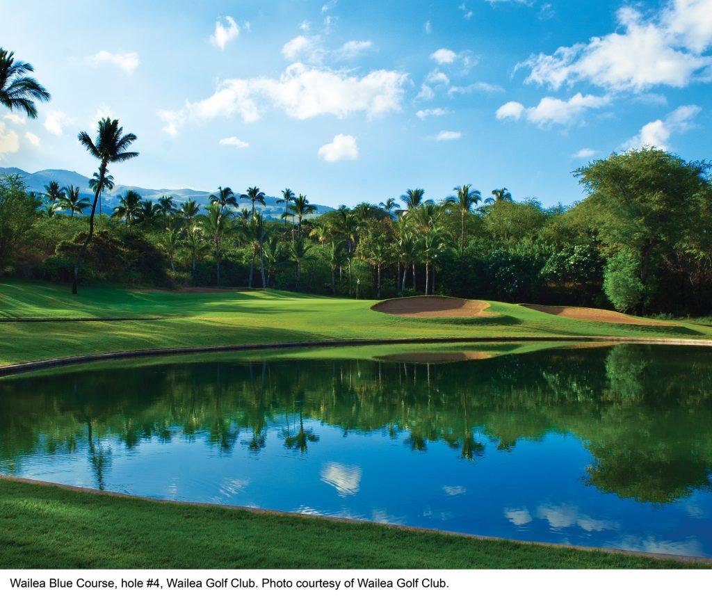 Wailea Blue Course hole #4. Photo credit: Wailea Golf Club.