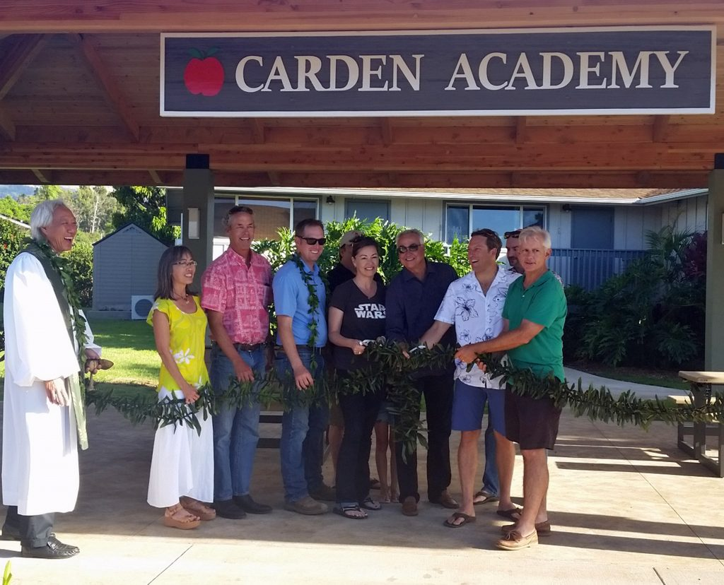Carden Academy of Maui is proud to announce the completion of its new pavilion, which was officially blessed on Friday, August 19