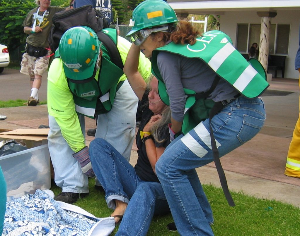 CERT training. Photo courtesy: County of Maui, Civil Defense Agency.