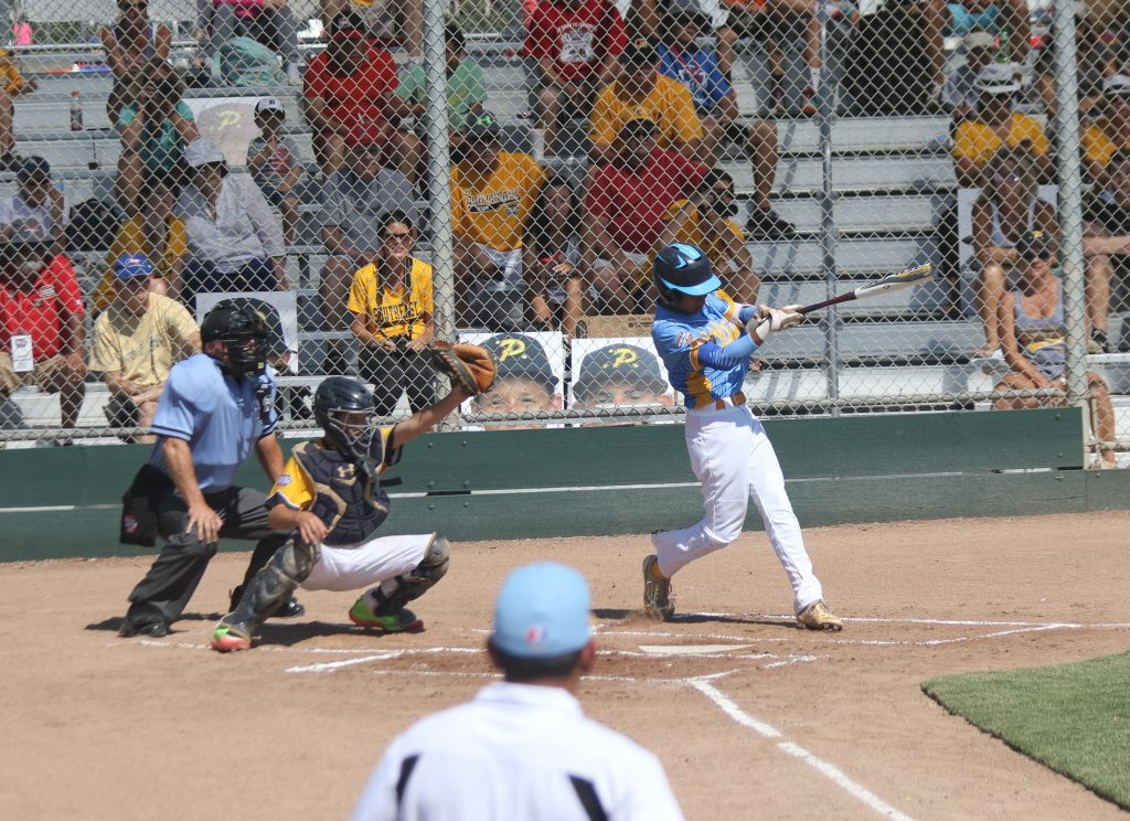 Haku Dudoit. Central Maui Little League Intermediate (13U) All-Star team. Photo credit: Trevor Tokishi
