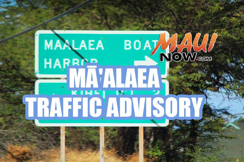 Māʻalaea traffic. Maui Now graphic.