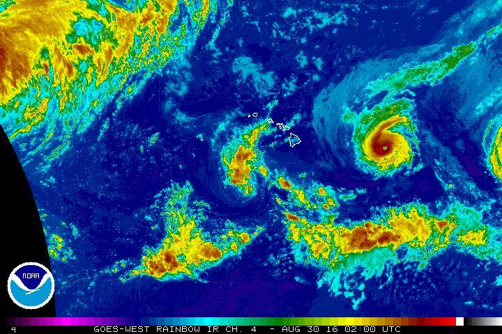 Madeline satellite imagery 8.29.16. Image NOAA/NWS/CPHC.