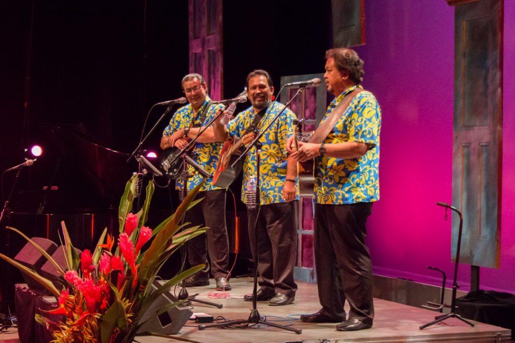 Photo Credit: Makaha Sons from L to R: Kimo Artis, Jerome Koko, and Mark Yim.