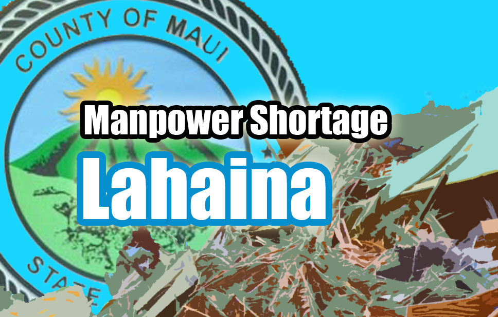 Lahaina trash route missed. Maui Now graphic.