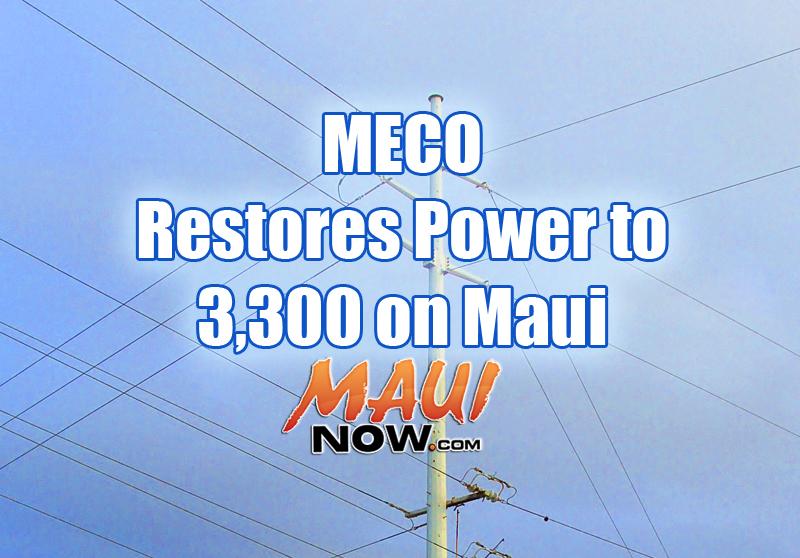 Maui power restoration. Maui Now graphic.