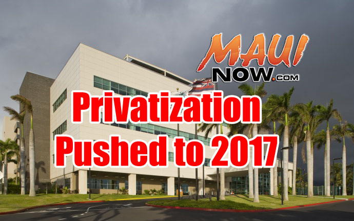 Privatization timeline pushed to 2017. Maui Now graphic.