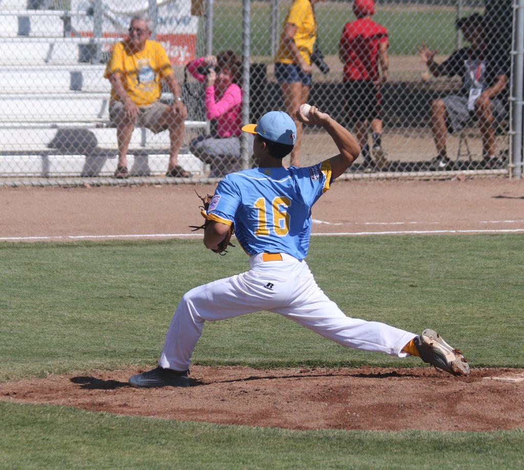 Lee Souza. Central Maui Little League Intermediate (13U) All-Star team. Photo credit: Trevor Tokishi