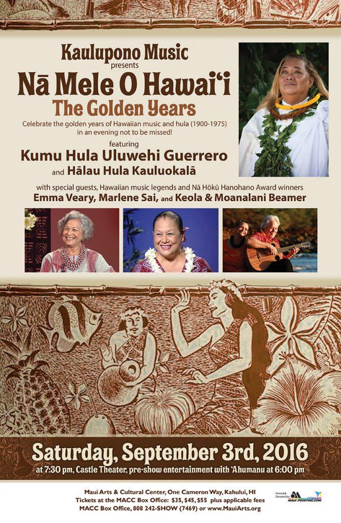 Uluwehi Guerrero concert flyer.