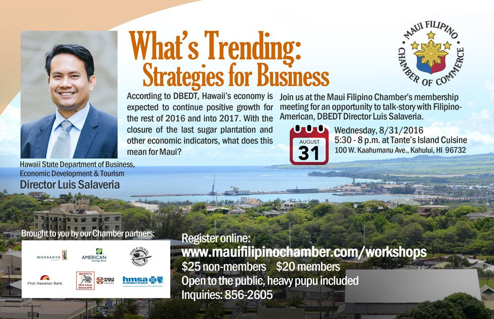 DBEDT director to share economic indicators in Hawaii