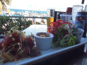 Ahi poke, on the dinner menu at Seascape Mā'alaea Restaurant. Photo by Kiaora Bohlool.