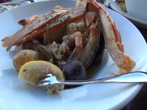 Seafood dinner special at Seascape Mā'alaea Restaurant. Photo by Kiaora Bohlool.