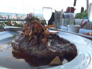 Steak special on the dinner menu at Seascape Mā'alaea Restaurant. Photo by Kiaora Bohlool.