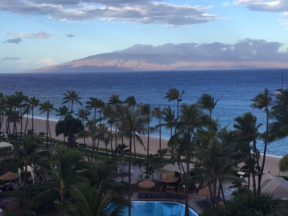 Pre-Lester, Kāʻanapali on Thursday morning, 9.1.16. PC: Joan Howard Allen