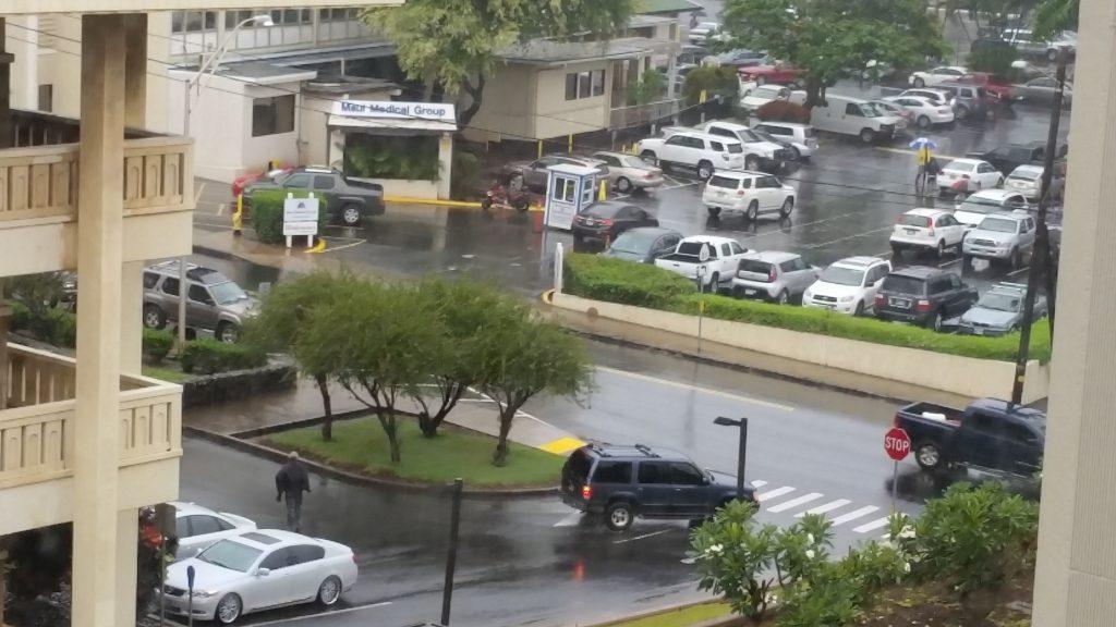 Wailuku, Maui during Flash Flood Warning on Tuesday afternoon, 9.13.16. PC: Wendy Osher.