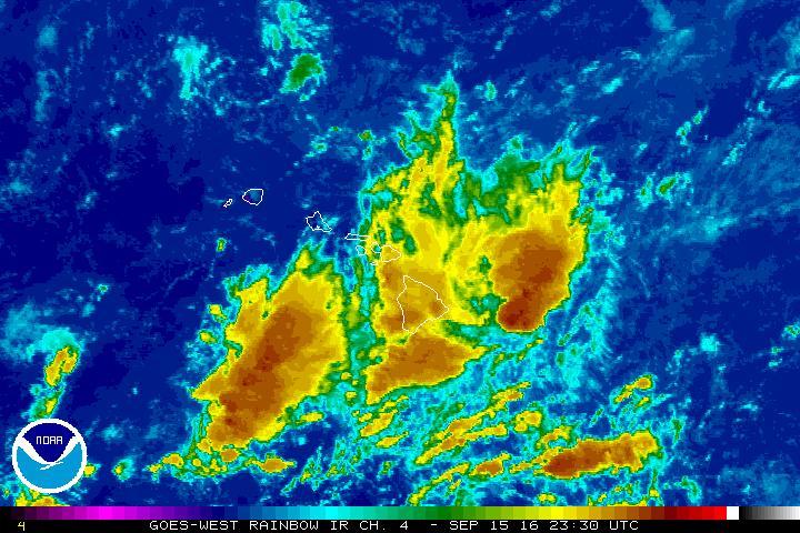 SATELLITE Imagery : 1:30 p.m. 9.15.16, NOAA / NWS