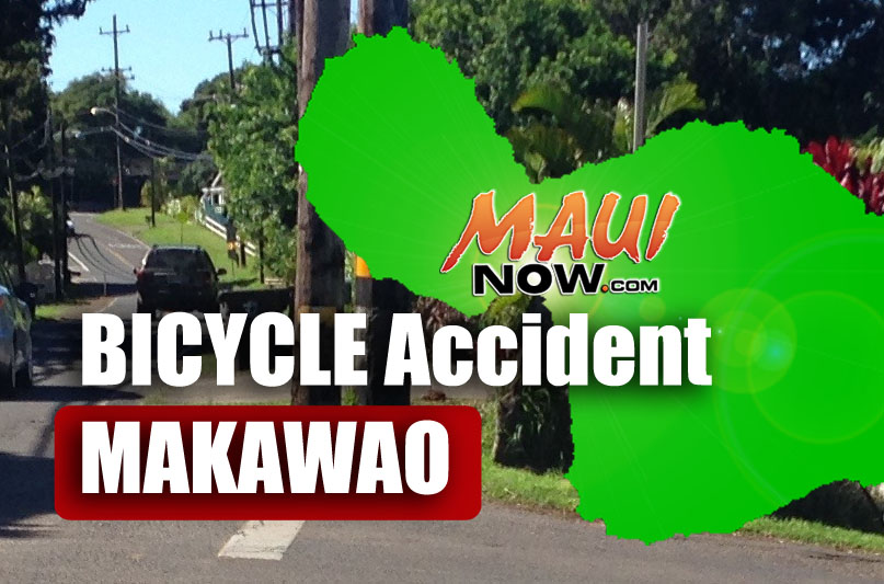 Bicycle accident, Makawao.