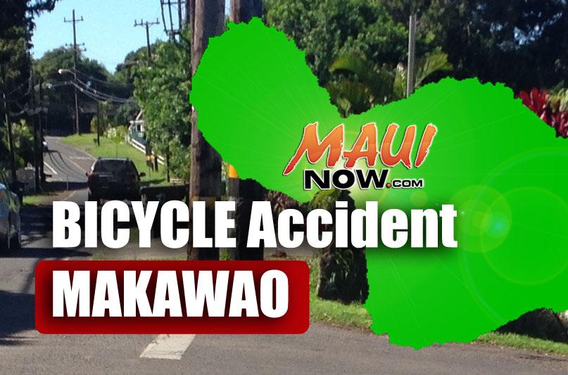 Bicycle accident, Makawao.