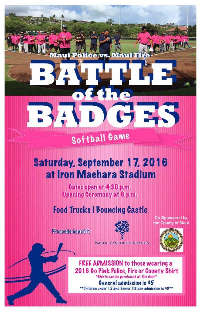 Battle of the Badges 2016 event flyer.