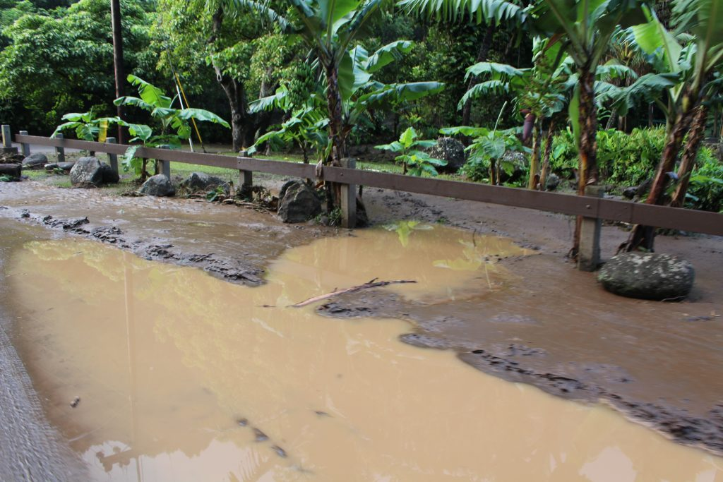 ʻĪao Valley, Kepaniwai Park closed due to flood debris from flash flood. PC: 9.14.16 by Wendy Osher.