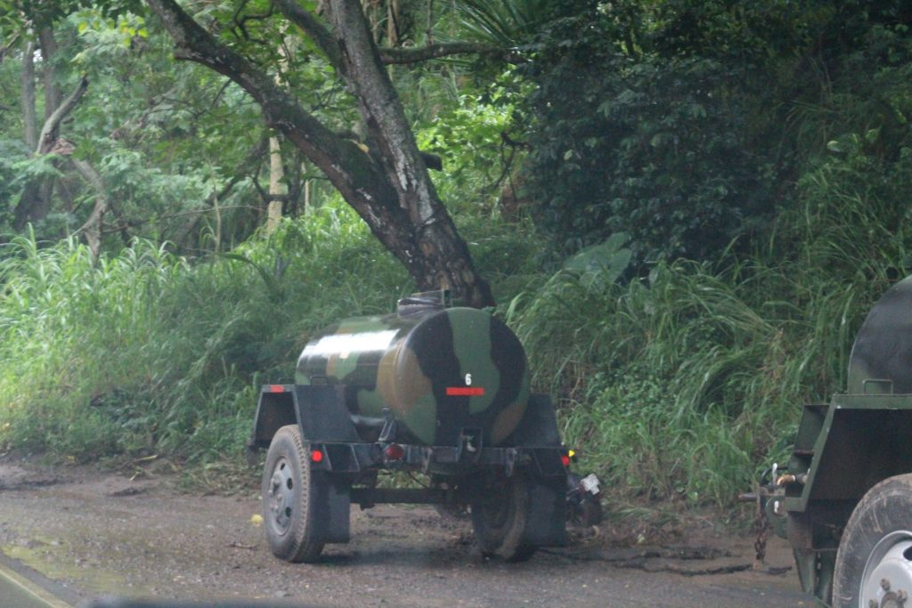 A waterline that was washed away in the flooding interrupted water service to residents in ʻĪao Valley, and the Department of Water Supply provided six water tankers for affected customers.