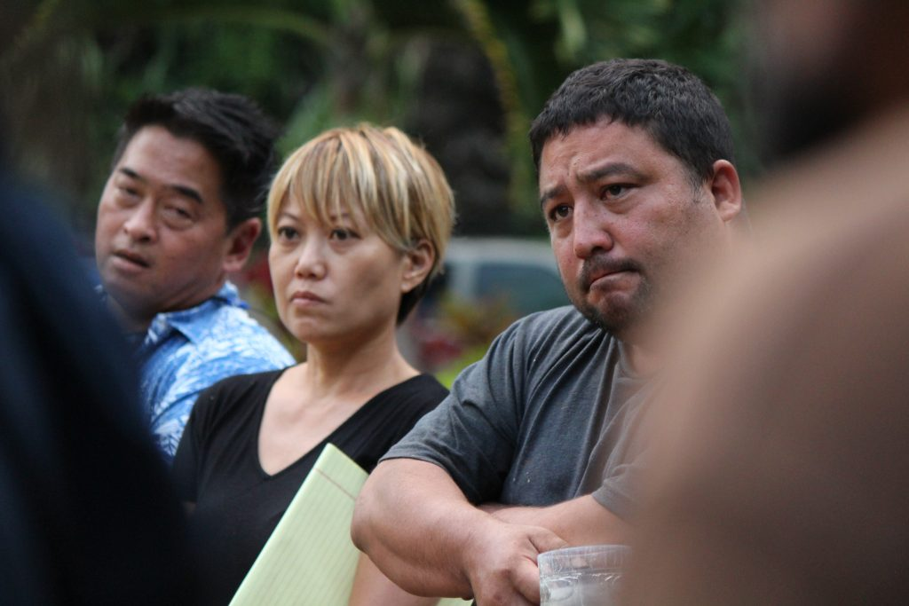 Lisa Higa, ʻĪao Valley resident. Her family was rescued from the roof of their home during the rising flood.