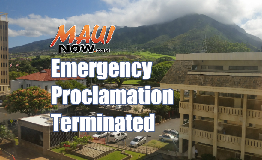 Termination of Emergency Proclamation for Hurricane Lester