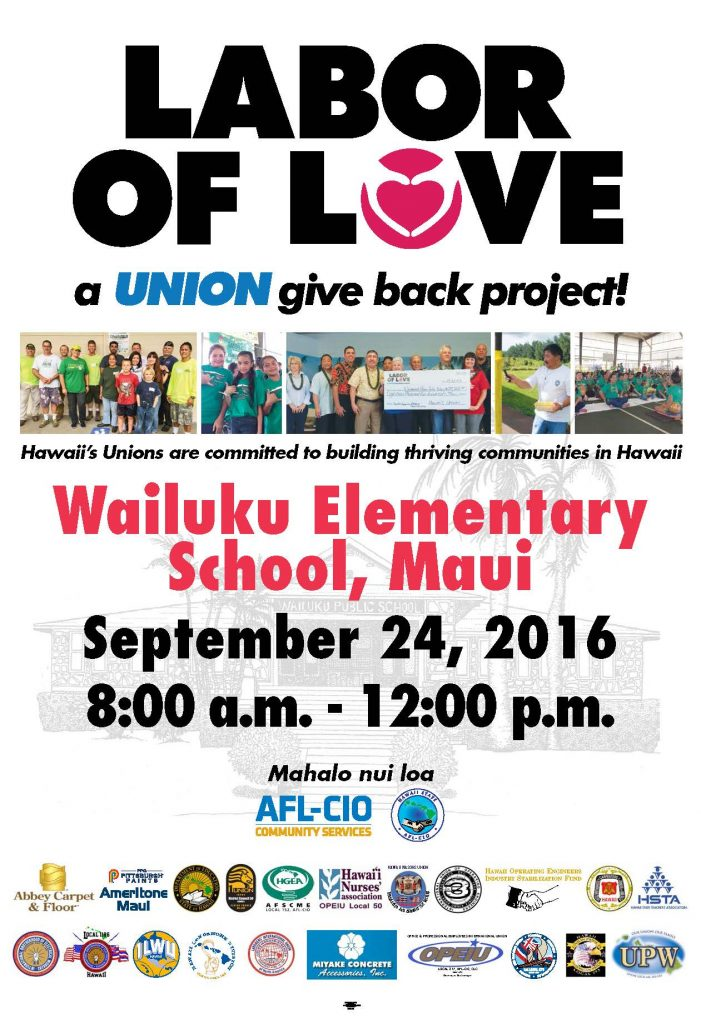 Labor of Love. Event poster.