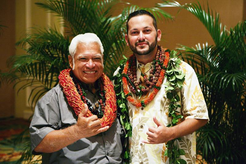 Falsetto Legend Richard Ho'opi'i (left) is among the musicians in the entertainment lineup. Courtesy photo.