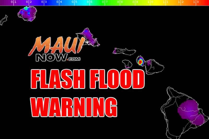 Maui Flash Flood WARNING