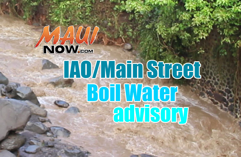 Water Conservation Request Continues; Water Restrictions in Place Only for Specific Residents in ʻĪao Valley, Portion of Main Street.