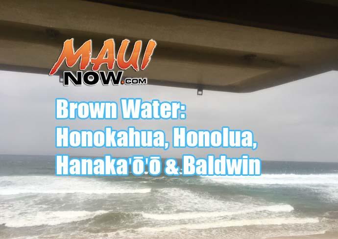 Maui Brown Water advisories, 9.13.16.
