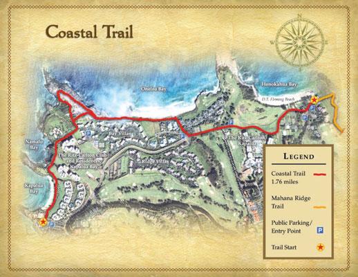 Coastal Trail Map. Photo Courtesy: Kapalua Resort