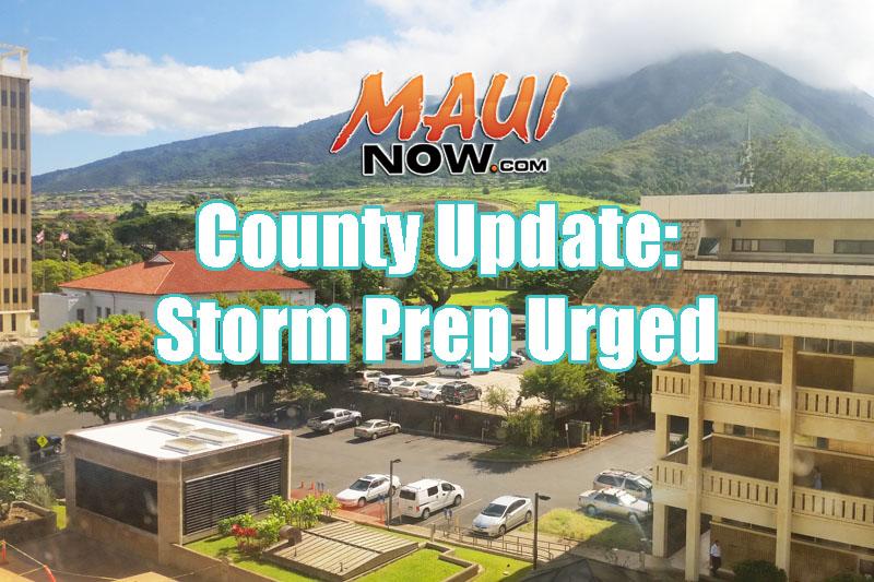 County storm prep urged.