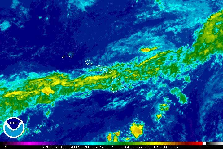 Flash flood watch, 3:30 a.m. 9.13.16 satellite imagery courtesy NOAA/NWS.
