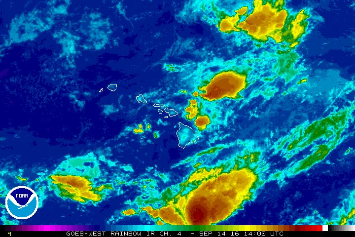 Satellite imagery as of 4 a.m. 9.14.16. Image credit: NOAA/NWS.